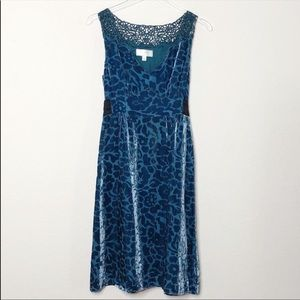 Moulinette Soeurs Velvet and Lace Dress